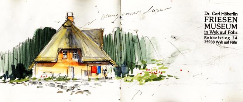 Architektur und Perspektive unterwegs einfach skizziert
