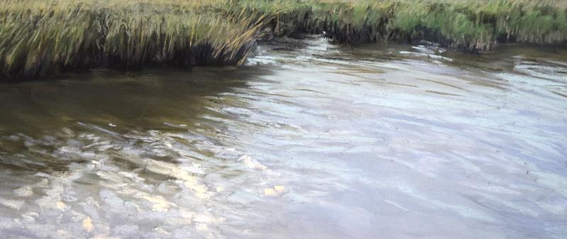 Von still bis bewegt – Wasser in Pastell